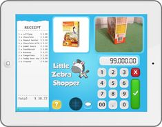 Little Zebra Shopper--FREE TO TRY and then $1.99 for Gold membership. Great fun to teach money concepts: needs vs wants, credit cards vs. cash payments, etc... (Info dated April 2014)
