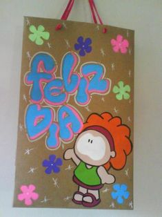 marcar cuadernos timoteo - Buscar con Google Hanging Flower Wall, Baby Shawer, Circus Party, Gift Bags, Painted Rocks, Diy And Crafts, Birthdays, Doodles, Lily