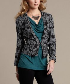 TART Collections Charcoal Tie-Dye Millie Blazer by TART Collections #zulily #zulilyfinds