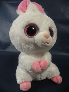 ed842323a8b Ty 2010 Beanie Boos Pink White Bunny Rabbit CARROTS Stuffed Bean Bag Plush  8