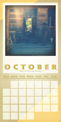 October - Home, of the range variety.
