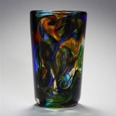 Unique Fratelli Toso 'Bovoli' Murano art glass vase, 1953.