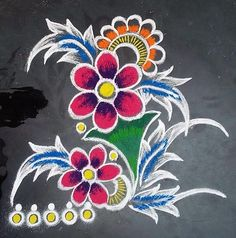Discover some rangoli design and patterns. These new rangoli designs are easy to make. Best Rangoli Images, Rangoli Simple, Simple Rangoli Designs Images, Rangoli Patterns, Colorful Rangoli Designs, Rangoli Ideas, Rangoli Designs Diwali, Kolam Rangoli, Flower Rangoli