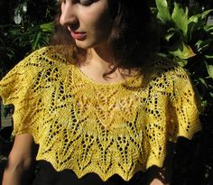 "In the Garden capelet (short version)--knit with Lucy Neatby's ""Celestial Merino"" (handpainted fingering)"