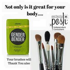Perfectly Posh Gender Bender bath chunk is great for cleaning your makeup brushes as well as detoxing your skin! https://lindsiwolf.po.sh/front #Perfectlyposh