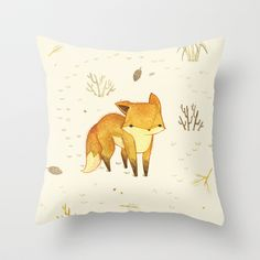 Lonely+Winter+Fox+Throw+Pillow+by+Teagan+White+-+$20.00 ok, officially lovin this site if only for the pillows!