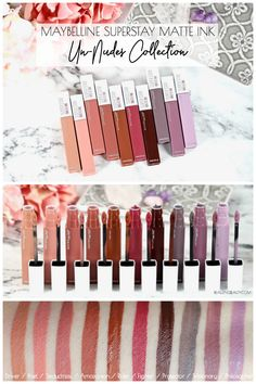 Makeup Ideas Maybelline New York has just released 10 new shades of Maybelline SuperStay Ink … Lipstick Swatches, Makeup Swatches, Drugstore Makeup, Lipstick Colors, Liquid Lipstick, Makeup Cosmetics, Lip Colors, Matte Lipstick, Lipsticks