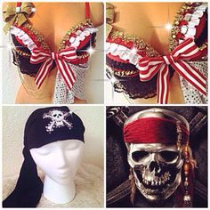 Hey, I found this really awesome Etsy listing at https://www.etsy.com/listing/203091572/pirate-island-rave-bra