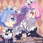 Pixel Rem and Ram by DAV-19.deviantart.com on @DeviantArt