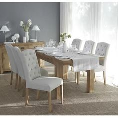 Westford Button Back Upholstered Dining Chair Charlton Home Upholstery Colour: Beige Parsons Dining Chairs, Dining Room Table Chairs, Fabric Dining Chairs, Solid Wood Dining Chairs, Sofa Tables, Table And Chair Sets, Upholstered Dining Chairs, Counter Height Dining Sets, Living Room Decor