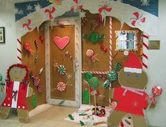 Enhance your home this season with Christmas door decorations by put a simple Christmas ornaments. Check out our Christmas door decorating ideas. Halloween Decorations Inside, Office Christmas Decorations, Grinch Decorations, All Things Christmas, Simple Christmas, Christmas Door Decorating Contest, Stocking Decorating, Christmas Classroom Door, Christmas Gingerbread House