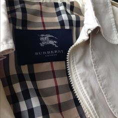 Authentic Burberry spring/fall raincoat!!! Off white color, size 8. Very light weight. So sophisticated!!! It's my moms. She's only prepared to sell for the right price, otherwise she'll hold onto it. Burberry Jackets & Coats