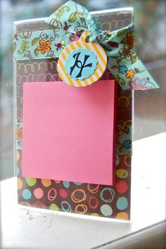 Paper Wings: Clear Frames, Scrapbook Paper and post-its make the perfect gift