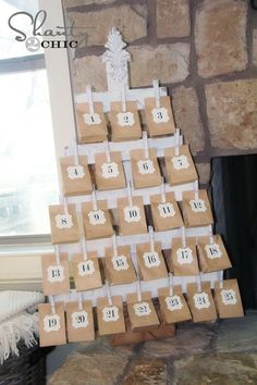 Wood Advent Calendar with FREE Printables!