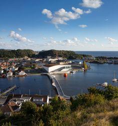 3XN connects norwegian cultural district with bridge at buen - designboom   architecture & design magazine