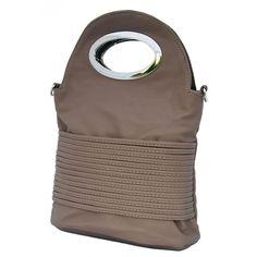 Dámská menší kabelka do ruky New Berry 310 šedo-hnědá 7aebcee88a1