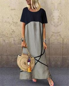 Fashion Tips Casual Cotton And Linen Maxi Dress.Fashion Tips Casual Cotton And Linen Maxi Dress Maxi Outfits, Boho Outfits, Fashion Outfits, Dress Fashion, Fashion Jobs, Vacation Outfits, Casual Outfits, Casual Summer Dresses, Dress Summer