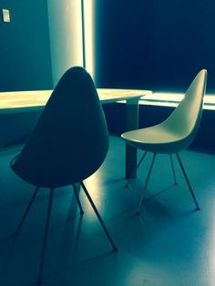 We love the new Jaime Hayon table and Jacobsen chairs from Ftitz Hansen