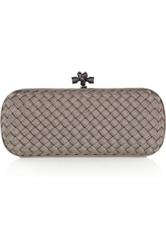 Bottega Veneta | The Stretch Knot intrecciato satin clutch  | NET-A-PORTER.COM