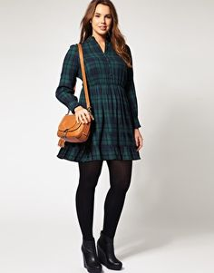 ASOS Curve plaid dress
