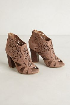 Mirelle Lacecut Booties - anthropologie.com Amazing pair of shoe sandals! Cute!