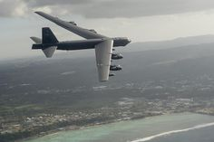 A B-52H Stratofortress flies during exercise Cope North 15, Feb. 17, 2015, off the coast of Guam. During the exercise, the U.S., Japan and Australia air forces worked on developing combat capabilities enhancing air superiority, electronic warfare, air interdiction, tactical airlift and aerial refueling. The B-52H is assigned to the 96th Expeditionary Bomb Squadron.