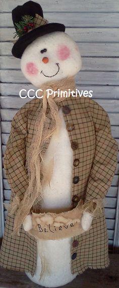 Primitive Pattern Primitive Christmas Believe por CCCPrimitives