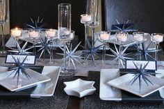 Modern Hanukkah Tablescape