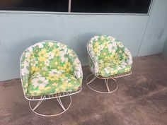 2 Homecrest Salterini Homecrest Bent Wire Swivel Rocker Chairs. The cushions are original to the chairs with some age cracking to the vinyl. You can still buy replacements or have them made. | eBay!
