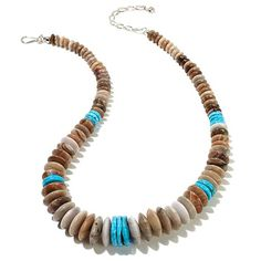 Jay King Petrified Wood and Turquoise Necklace