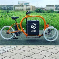 まだまだ試作レベルでやる事山積みだけど熟成させてカーゴバイク文化を日本でも定着させたいですね製品化目指して頑張ります海外勢なんかにゃ負けない#dagastroke #cargobike #ebike #カーゴバイク #三輪自転車
