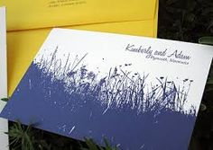 wedding invitation royal blue silhouette - Google Search