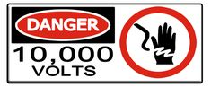 JurassicPark Sign 10,000 Volts by *oryx-gazella on deviantART