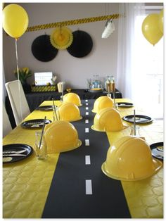 BAustellengeburtstag, construction birthday party, fun party decoration - ALL ABOUT Construction Party Decorations, Construction Birthday Parties, 50th Birthday Party Decorations, Boy Birthday Parties, Birthday Tags, 3rd Birthday, Birthday Design, Party Fun, Anton