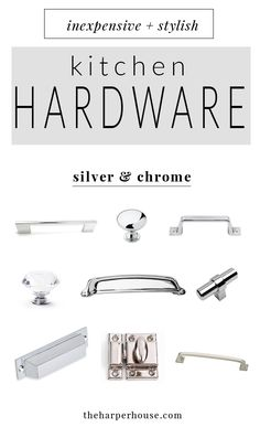 Silver Hardware Roundup Studio Mcgee Blog Pinterest
