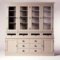 buffet #vaisselier en #pin #massif made in meubles. #bois peint en ... - Meuble Vaisselier Design