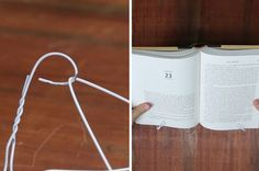 Spend Exactly Zero Dollars Building A Bookstand Out Of A Hanger