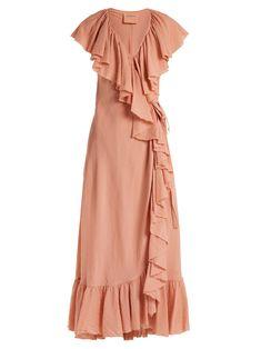 1912979bd8d Callela ruffled cotton wrap dress