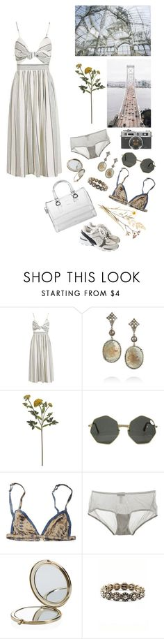 """Dust"" by mona-sml ❤ liked on Polyvore featuring Topshop, Loree Rodkin, Crate and Barrel, Rabens Saloner, Furla, Cosabella, Henri Bendel and Chanel"