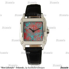 Shop Zazzle's selection of customisable Bloom watches & choose your favourite design from our thousands of spectacular options. Square Watch, Kiwi, New Product, Bloom, Watches, Lifestyle, Accessories, Products, Wristwatches