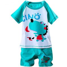 [~$5]  Baby clothes sale! Cotton Summer Cartoon Kids Clothing Sets Toddler Baby Boys Girls Clothes Short Sleeve T-shirt+Pants Infant Children Casual Suits