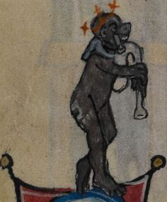 Detail from medieval manuscript, British Library Stowe MS 17 'The Maastricht Hours' f18v