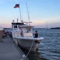 2016 Cobia 296 #knottydawg #296 #cobia #cobiaboats #cobia296 #flag #july4th #fireworks #partytime #sunset #syc #savannah #savannahyachtclub #georgia #yamaha #garmin #garminmarine #rigidindustries