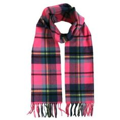 Pink & Blue Multi Colored Plaid Softer Than Cashmere Scarf Luxury Divas. $14.99