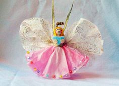 Clothespin Angel Ornament
