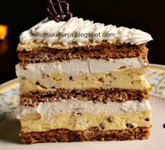 Dessert Cake Recipes, Sweet Desserts, Apple Recipes, Baking Recipes, Torta Recipe, Kolaci I Torte, Sweet Cooking, Torte Cake, Blueberry Desserts