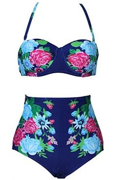 Demetory Women's Vintage Style High Waisted Bikini Sets Swimsuits Swimwear Demetory http://www.amazon.com/dp/B00SMA4718/ref=cm_sw_r_pi_dp_a7Ekvb0DYYYM7