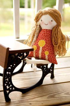 Rag Doll Personalized Rag Doll First Birthday Cloth by thebuslbarn