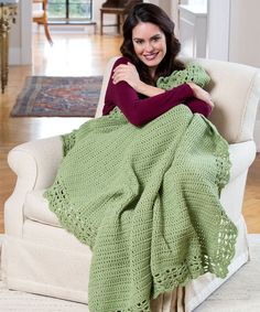 Get ready to snuggle with the Ridiculously Cozy Crochet Blanket Pattern. Made with a simple double crochet body and lacy border, this blanket will easily become a classic in any household.