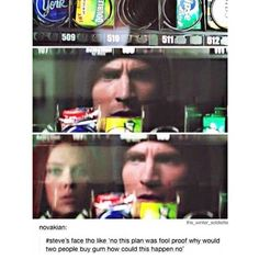 Steve Rogers: Master of Hiding Really Important Things. Marvel Funny, Marvel Memes, Marvel Dc Comics, Marvel Avengers, I Understood That Reference, Captain America And Bucky, Romanogers, Marvel Characters, Marvel Cinematic Universe